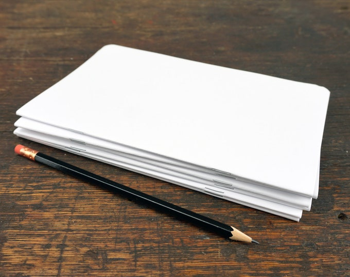"""Pages, Notes, Notebook, Book Binding Supply, Pages, 5.25"""" x 8.5"""", Sketchbook, Blank, Plain Pages, Draw, Write, Bind, Book, Binding, Supply"""