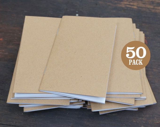Bulk Notebooks, 3.5 x 5.5, Blank Journal, Notebook, Sketchbook, Kraft Journal, Blank Notebook, Kraft Sketchbook, Blank, Recycled, Notepad