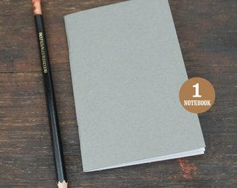 Gray Notebook, 3.5 x 5.5, Sketchbook, Journal, Notebook, Blank Pages, Gray Journal, Blank, Notes, Gray Sketchbook, Black, Recycled Notebook