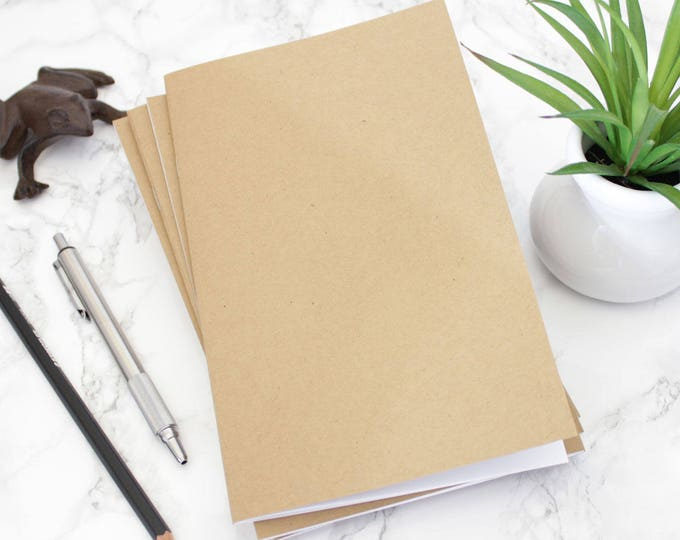 Notebook, Journal, 5 x 8, Sketchbook, Bulk Journal, Bulk Notebook, Blank Journal, Blank Notebook, Notebook, Blank Page Journal, Kraft.