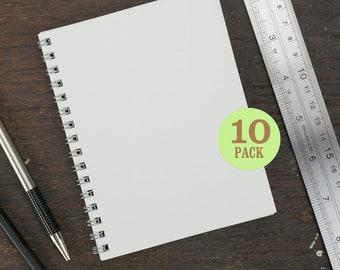 Wire Bound Notebook, 4.25 x 5.5 Inch, Journal, Sketchbook, Notes, White, Blank Journal, Notebook, Sketchbook, Bulk Journal