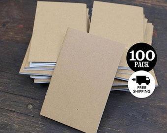 Bulk Kraft Notebooks, 3.5 x 5.5 Inch, Bulk Journal, Sketchbook, Blank Notebook, Journal, Blank Journal, Kraft Journal, Notebook, Set of 100.