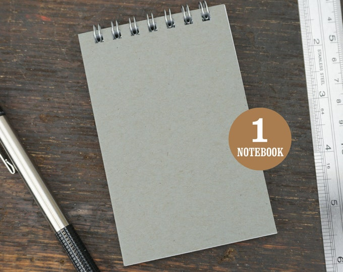 Mini Wire Bound Gray Notebook, 2.75 x 4.25 Inch, Gray, Notes, Blank Notebook, Mini Sketchbook, To Do List, Mini Notebook, Small Notes