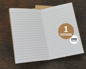 Lined Notebook, 3.5 x 5.5, Small Kraft Notebook, Lined Page Notebook. Great for Planning, Goals, Notes, and To-Do List. Kraft Lined Notebook