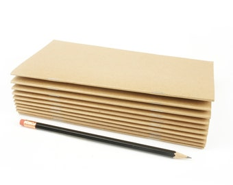 Blank Travelers Notebooks, Value-Priced Notebooks, 4.375 x 8.25 Inch, Travel Notebook, Blank Pages, Journal, Bulk Packs Only—25 or 100 Pack