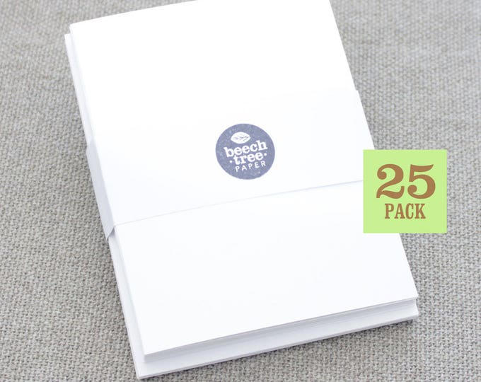 Blank Notecards with Envelope, Size A2, White Cards and Envelopes, Blank Envelopes, Blank Cards. 4.25 x 5.5 In. Set of 25.