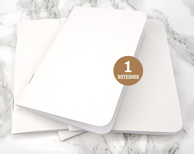 Bulk notebook, 3.5 x 5.5 Inch, Rounded Corners, White, Bulk notebooks, Bulk Sketchbook, Blank Pages, Pocket sized notebook. Single Notebook.