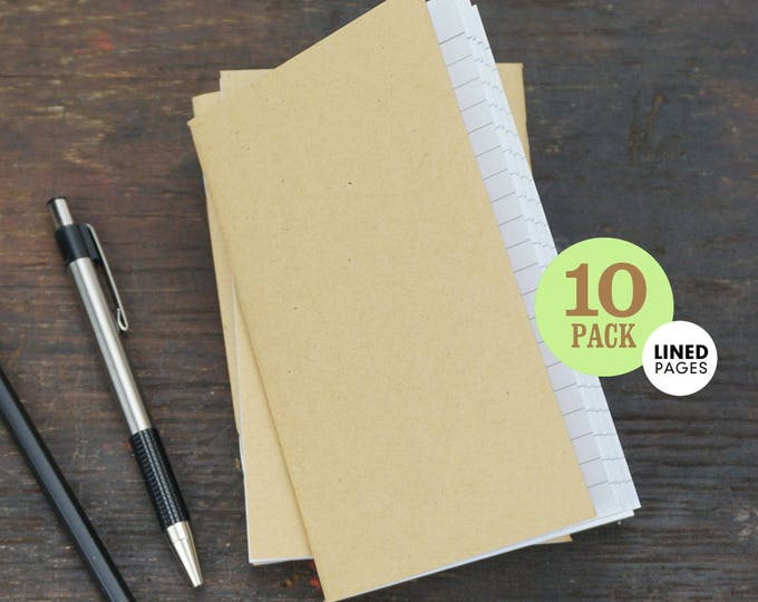 Kraft Notebook Lined, 3.5 x 5.5, Pocket-Sized, Lined Page Notebook. Use for Planning, Goals, Notes, To-Do Lists. Set of 10 Lined Notebooks.