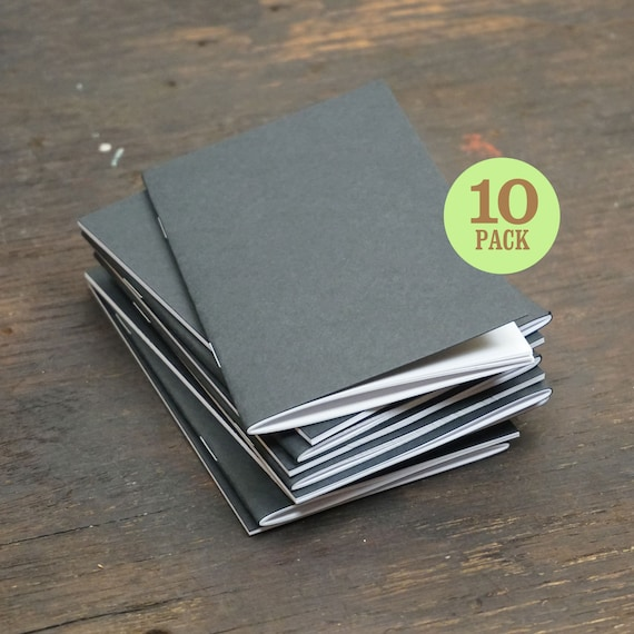 black kraft notebooks 3 5 x 5 5 inch blank page notebook etsy
