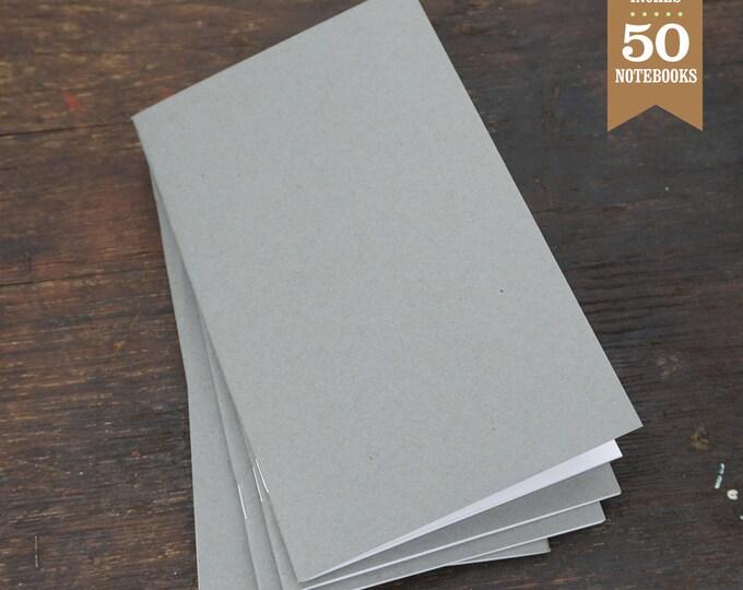 Bulk Blank Notebooks, 5x8, Blank Journal, Sketchbook, or Notebook, Gray, Sketchbook, Bulk Journal, Blank Notebook, Kraft Notebook. 50 Pack.