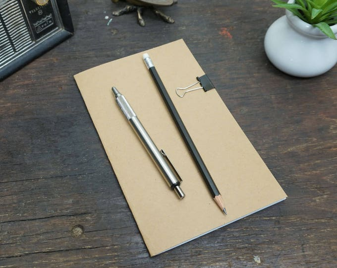 Kraft notebook, 5x8 inches, bulk notebooks, sketchbooks, journal, blank notebook, bulk notebook, plain notebook, blank pages.