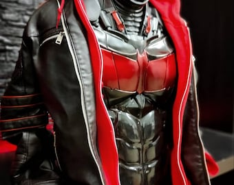 Red Hood chest armor inspired super flexible ab  jaket not incluse