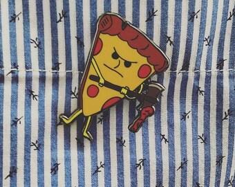 Pizza Axe, Pizza Enamel Pin, Cute Lapel Pin, Lapel Pin for Her, Lapel Pin for Him, Pizza Lapel Pin