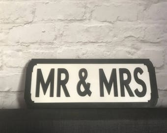 Mr and Mrs Wedding Street Sign prefect for your wedding or as a gift