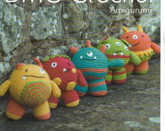 DMC Mini Monsters Amigurumi Crochet Pattern , monster toy crochet , stuffed toy, crochet toy