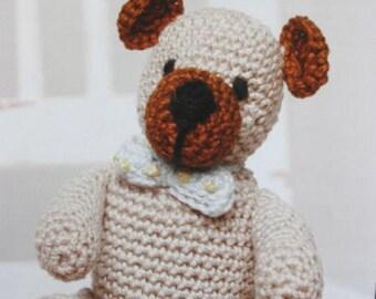 Crochet Pattern from DMC, Teddy Bear by Val Pierce , teddy crochet , stuffed toy, crochet teddy, amigurumi bear