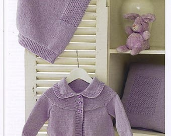 Knitting Pattern BABY GIRL/'S BOY/'S CARDIGANS DK Prem 12-24 in 31-61 cm EASY KNIT