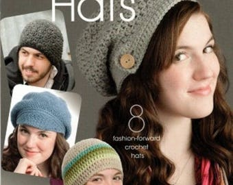 c543c4c109859 Annies Attic MODISH CROCHET HATS Pattern Booklet -8 Beautiful projects