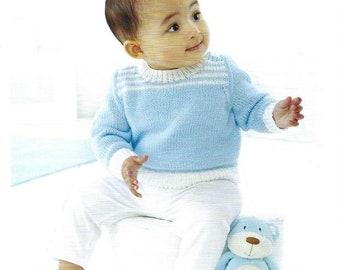 "12-22/"" UKHKA 189 Baby Cardigans /& Waistcoat Knitting Pattern In DK 31-56cm"