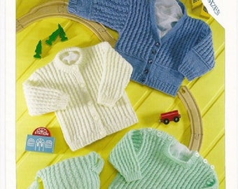 c527cb1f01c4 Baby Cardigan and Sweater Knitting PatternBHKC 1 Easy Knit