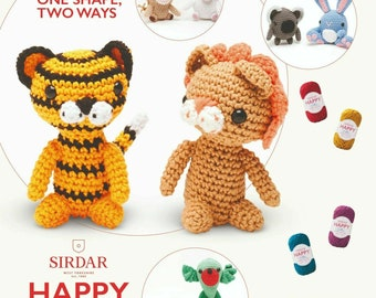 CROCHET PATTERN Amigurumi Soft Toys Unicorn /&Rainbow Cushion Chunky PATTERN 9068