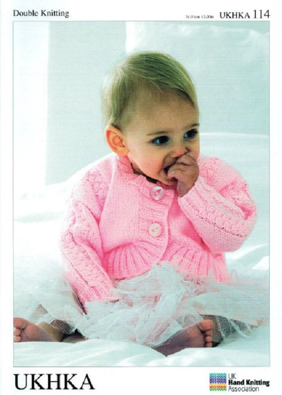 8ec5d21eb Baby Boleros Knitting Pattern UKHKA 114 Baby knittinglong