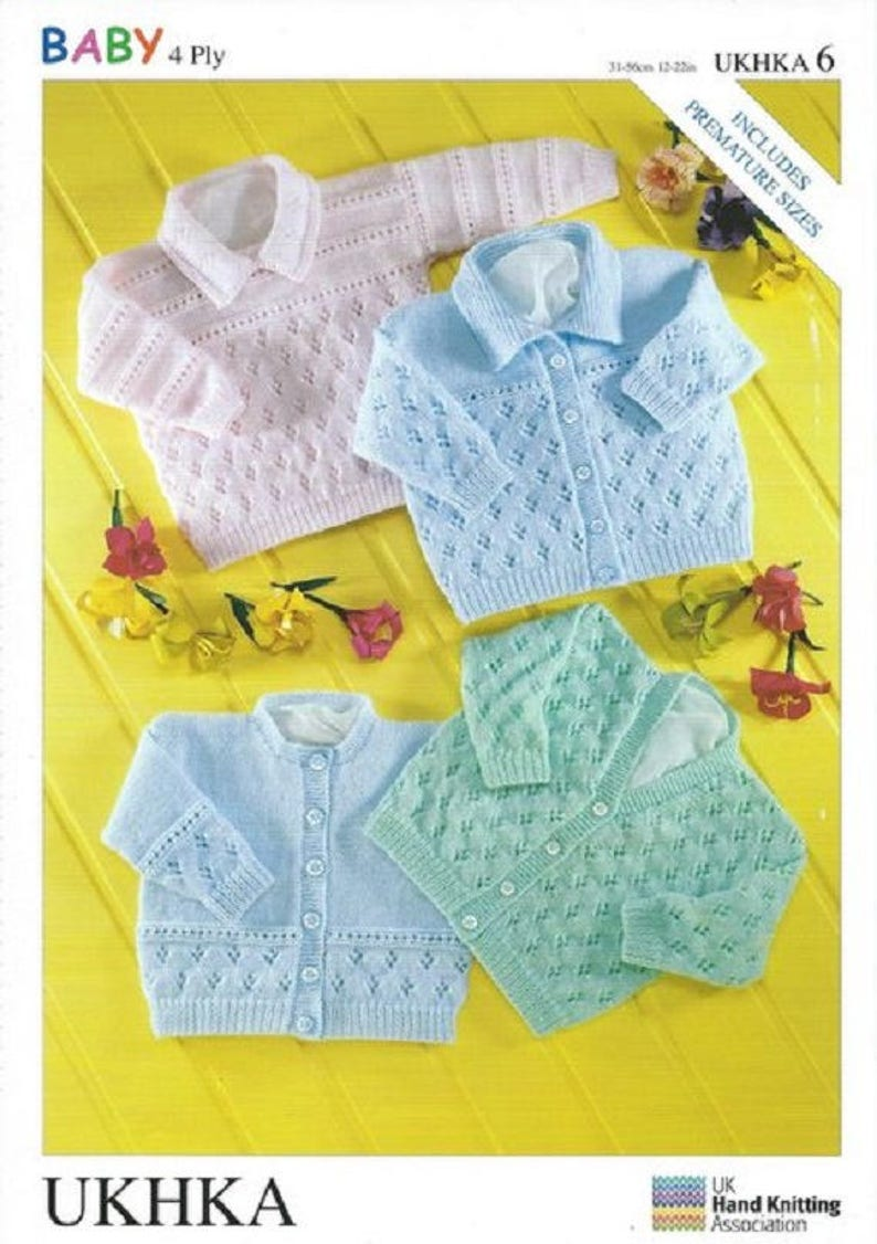 Baby Matinee Coat BHKC 29 knitting pattern 4 ply yarn prem size included