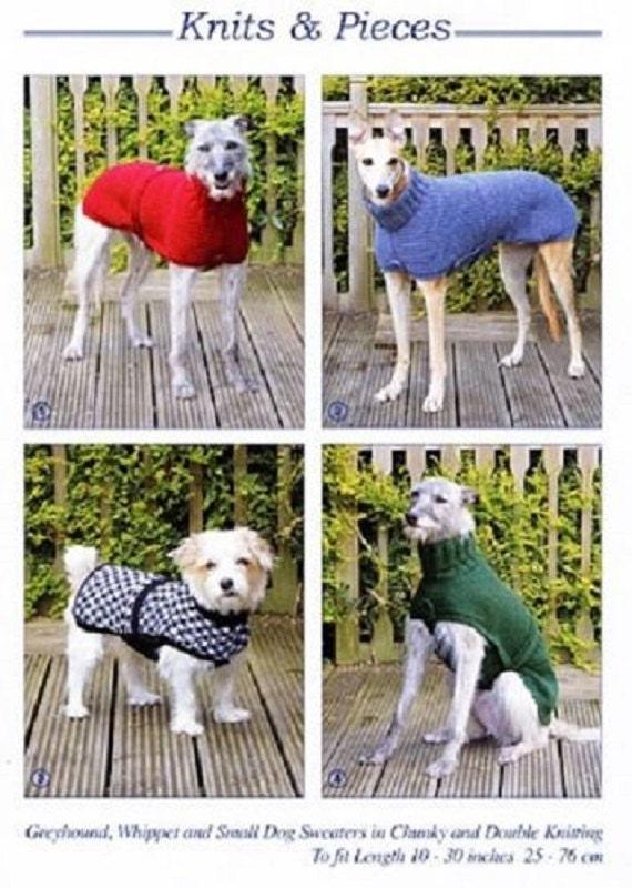 Knitting Pattern For Dog Coat Dog Sweater Greyhound Etsy