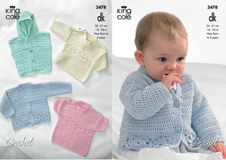 15005d08a Crochet Cardigan Hooded Gilet Long   Short Sleeved