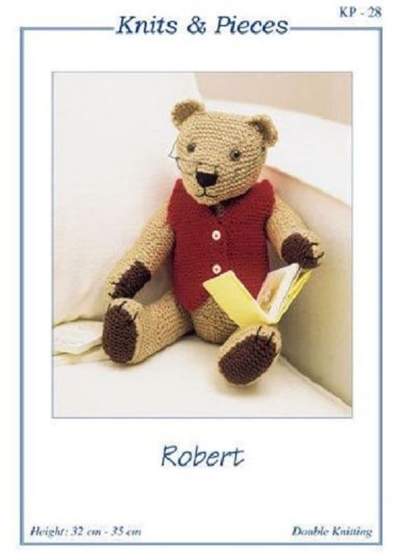 Robert Teddy Bear Knitting Pattern , Toy knitting pattern by Sandra ...