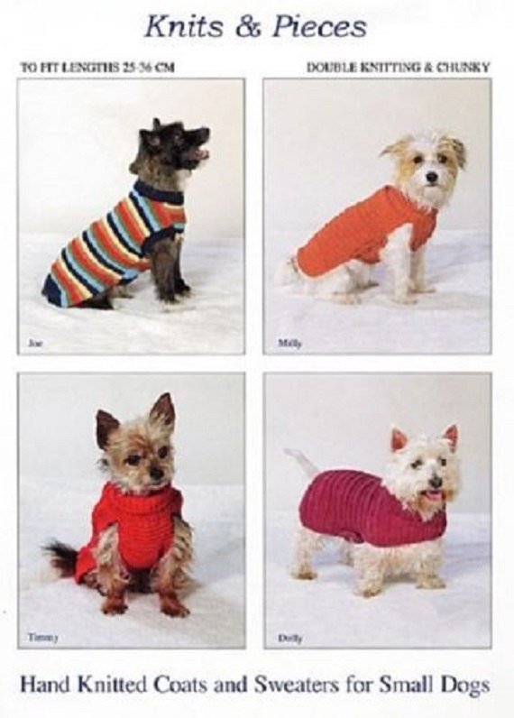 Knitting Pattern For Hand Knitted Coats And Sweaters For Small Etsy