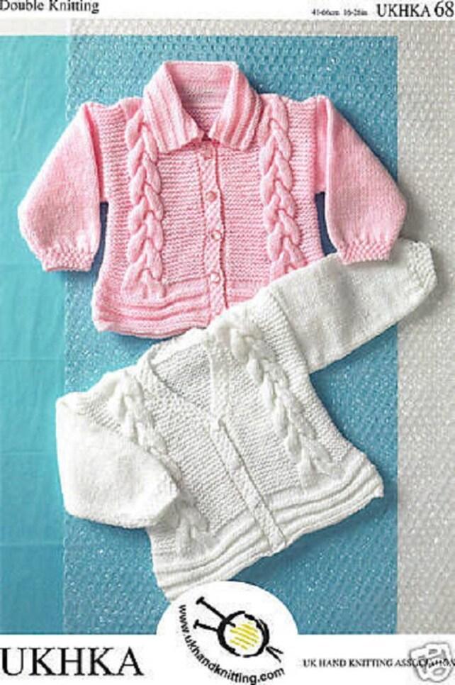Baby Mädchen Kabel Strickjacken oder Jacke Strickmuster | Etsy