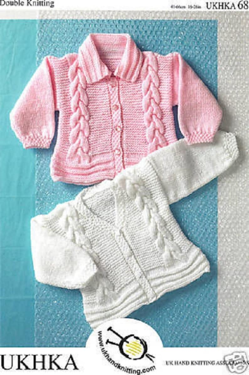 aac24e4a8 Baby Girl Cable Cardigans or Jacket Knitting Pattern