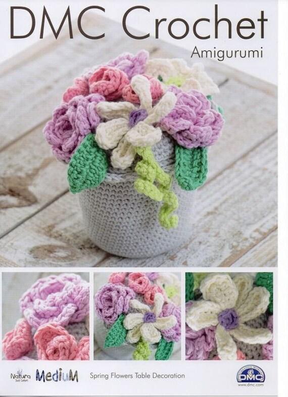 Spring flowers table decoration dmc crochet pattern etsy image 0 mightylinksfo