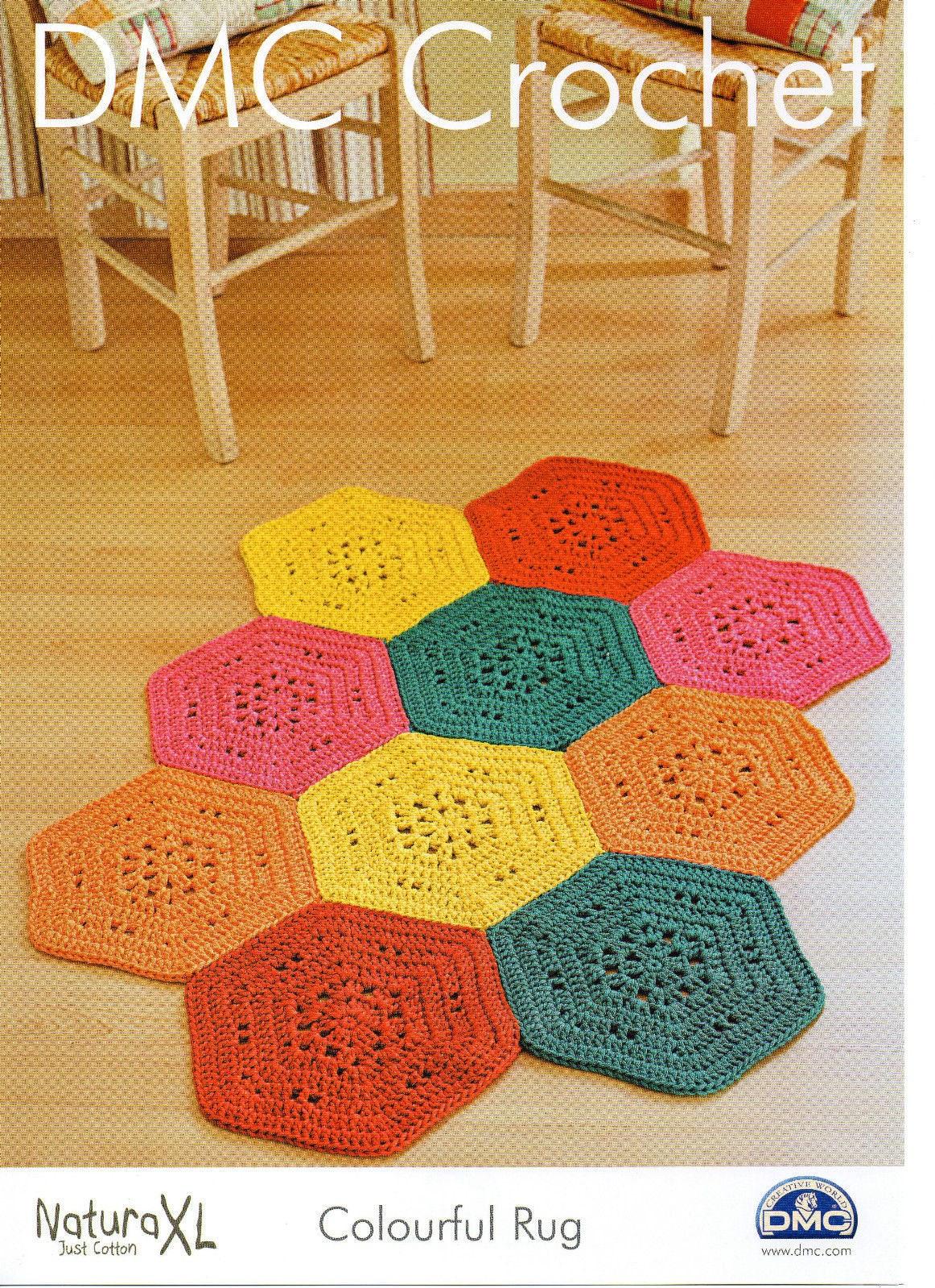 Dmc Crochet Pattern Colourful Rug Floor Covering Crochet Etsy