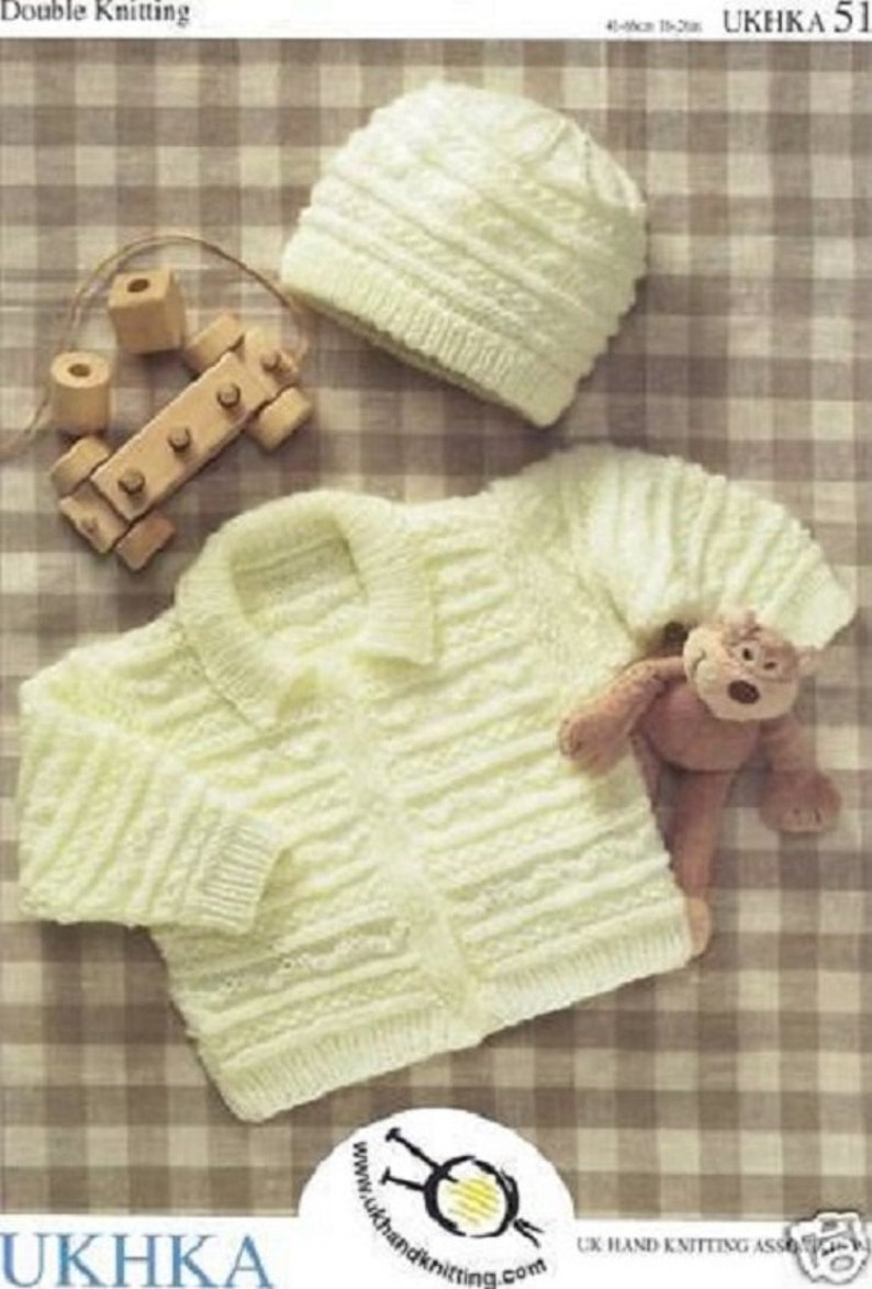 b238c0ca0 Childrens   Baby Double Knitting Pattern Jacket and hat