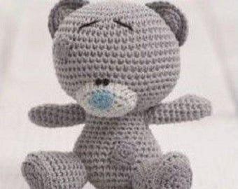 DMC Natura Tiny Tatty Teddy Amigurumi Crochet Pattern 15283, tatty teddy crochet , stuffed toy, crochet teddy ,me to you range