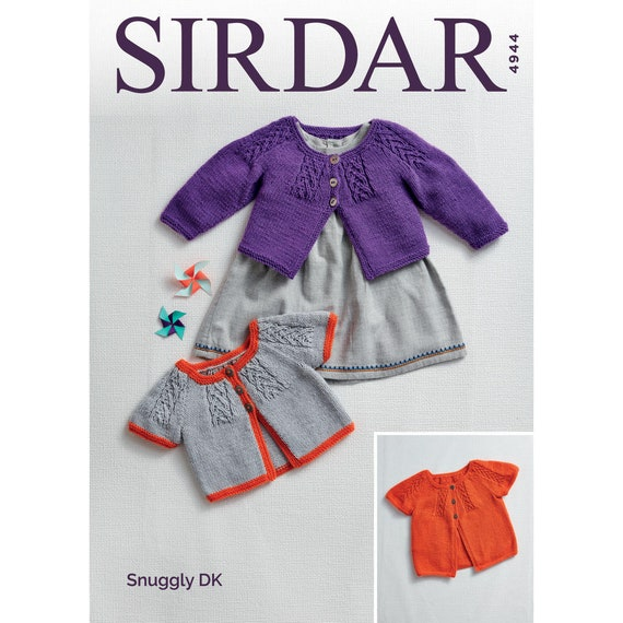 b95339879 Sirdar Cardigan Knitting Pattern 4944 Snuggly DK pattern