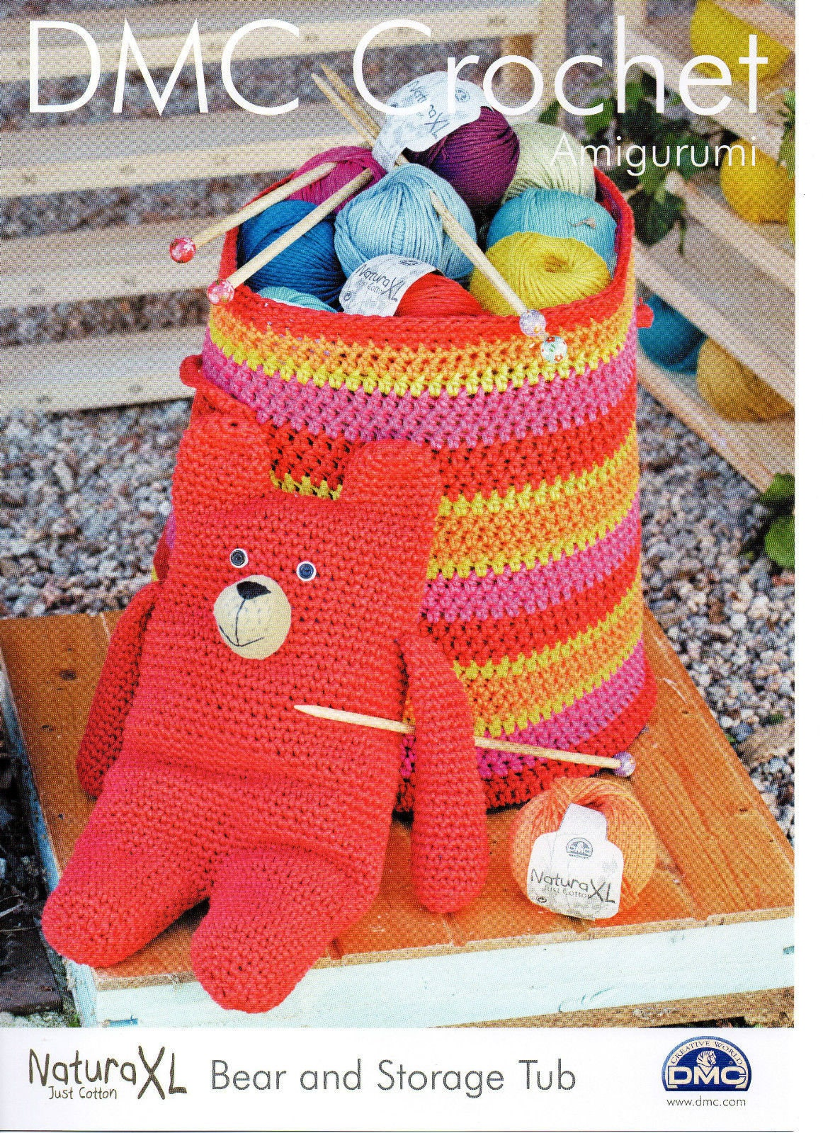 Teddy Bear And Storage Tub Basket Crochet Pattern Dmc Etsy