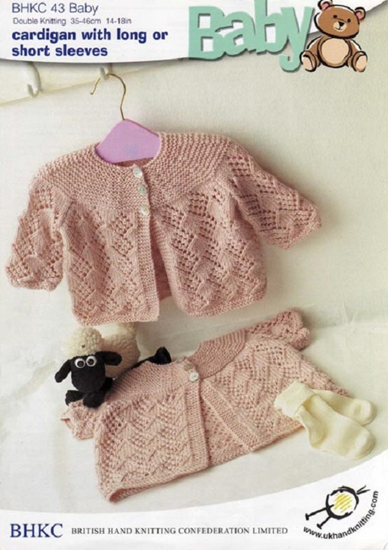 Knitting Pattern - KP73 - Matinee Jacket and Hat - 0-3mths - UK Terminology