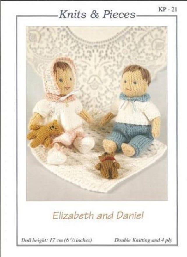 Elizabeth und Daniel gestrickt Puppen und Zubehör Strick & | Etsy