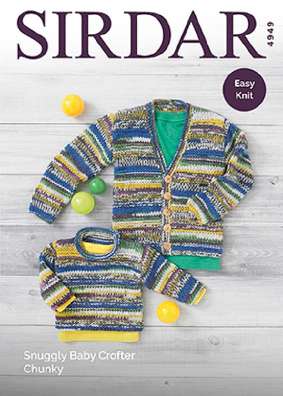 e2dff27c7 Sirdar 4949 Sweater   Cardigan Knitting Pattern in Snuggly