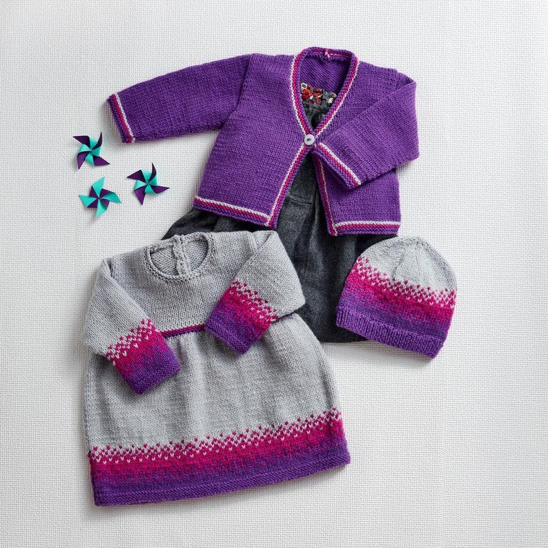 0c30226e5 Sirdar Dress Cardigans   Hat Knitting Pattern 4946 Snuggly