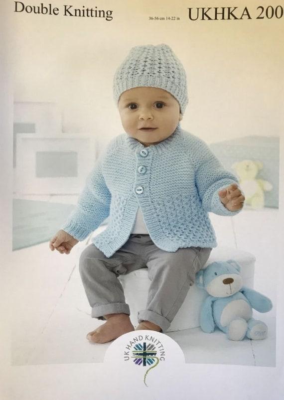 Baby Knitting Pattern DK UKHKA 56