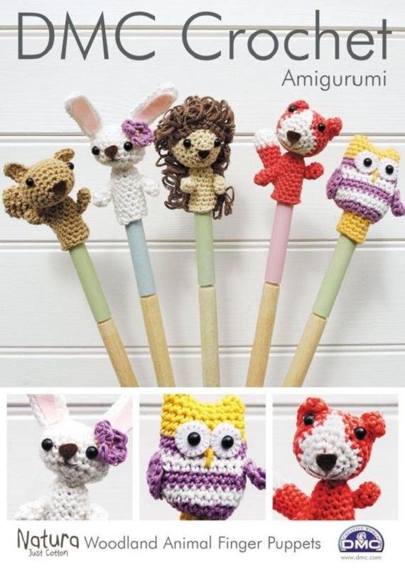 DMC Amigurumi Crochet Pattern DMC Woodland Animal Finger | Etsy