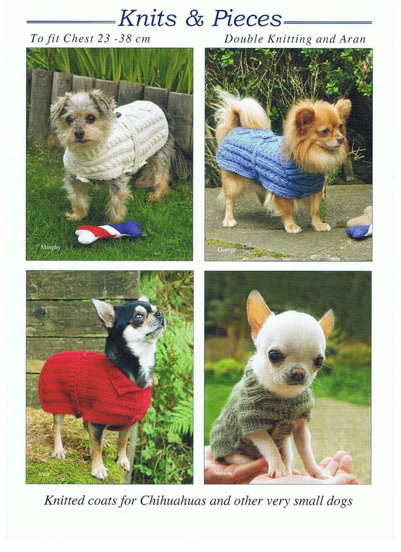 Knitting Pattern For Dog Coat Dog Sweater Very Small Dog Etsy