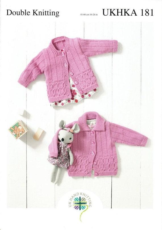 3b52e93c6 UKHKA 181 Knitting Pattern Baby and Childrens Round Neck and
