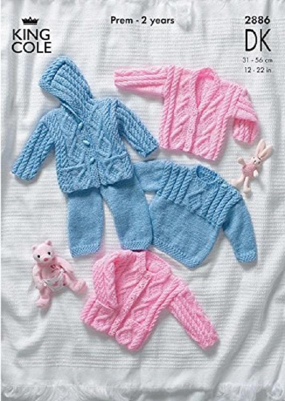 UKHKA 179 Baby Knitting Pattern DK