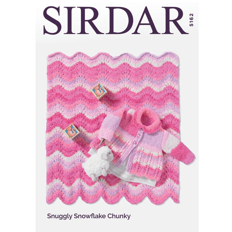 a28e9092e Sirdar Coat   Blanket Knitting Pattern 5162 Snuggly
