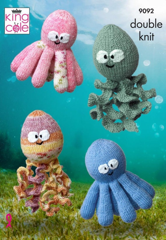 King Cole 9075 Christmas Candy Cosies DK Knitting Pattern